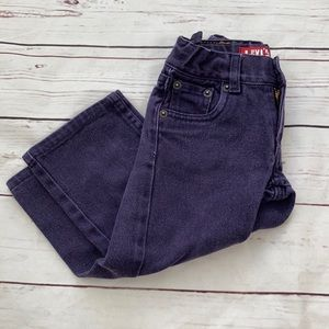 Levi's 514 Slim Straight Purple Jeans Size 2T